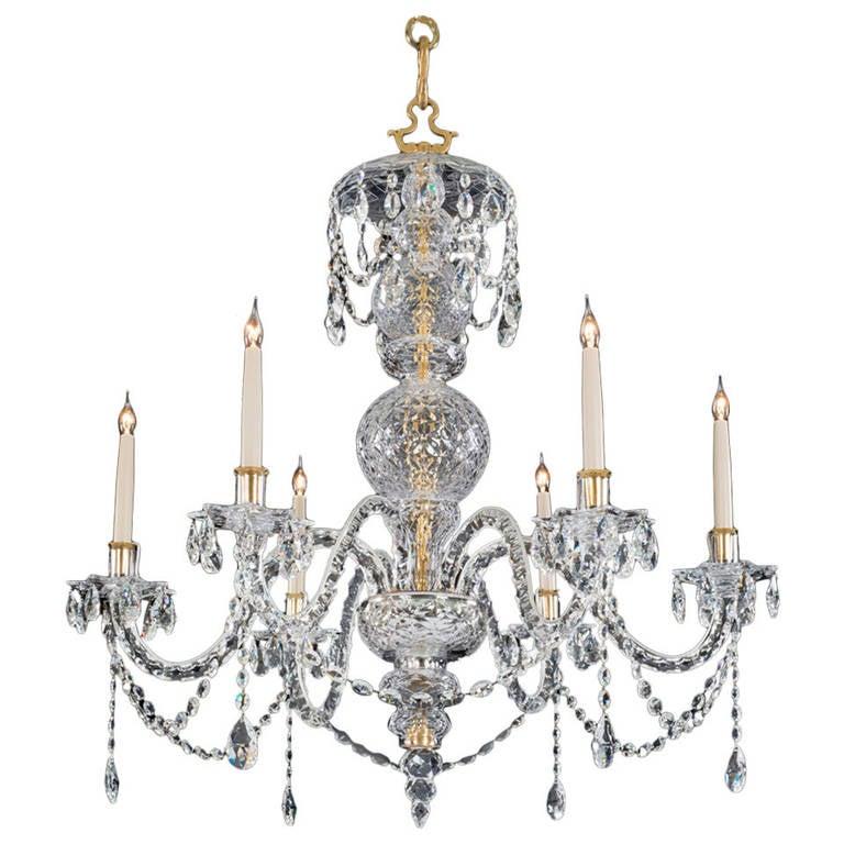 George II Style Crystal Chandelier