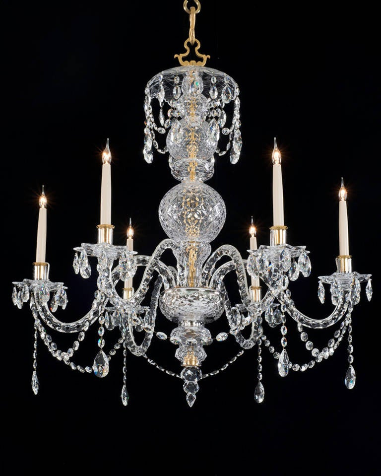 George ii style crystal chandelier for sale at 1stdibs - Chandeliers on sale online ...