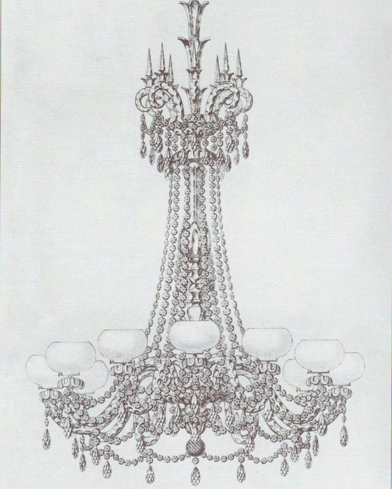 19th Century Important Twenty-Light Cut-Glass Chandelier by F. & C. Osler For Sale