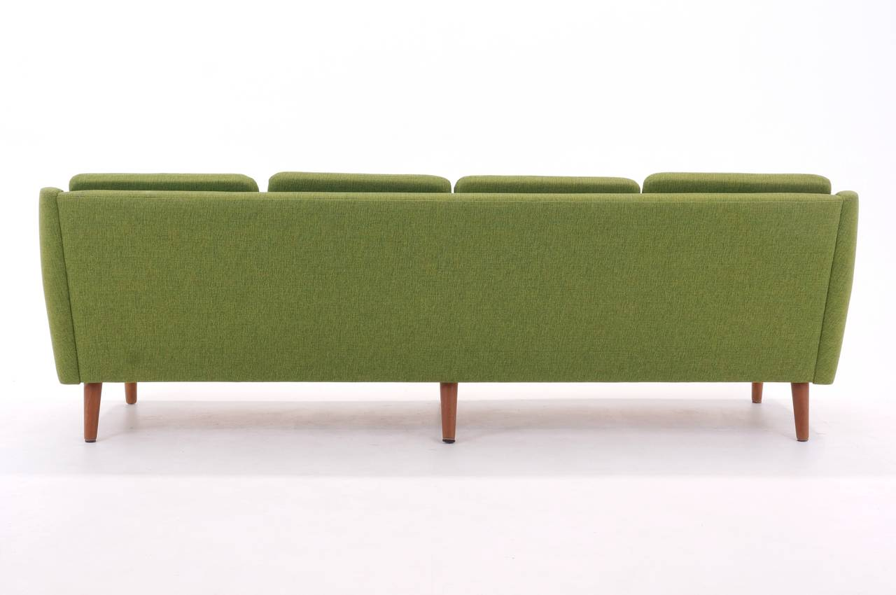 Chartreuse Green Danish Modern Sofa And Chair At 1stdibs