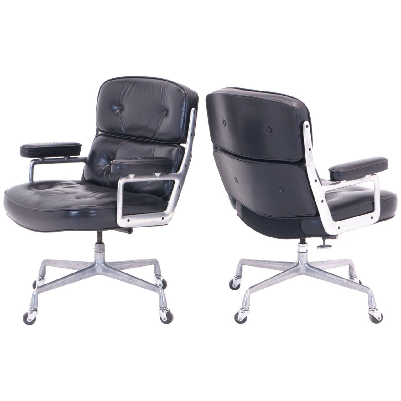 Pair Of Eames For Herman Miller Original Time Life Chairs