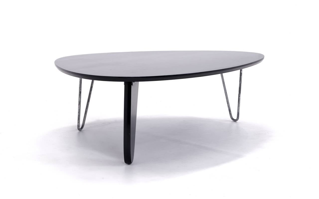 Very rare isamu noguchi rudder coffee table model in 52 herman miller 1944 for sale at 1stdibs Herman miller noguchi coffee table