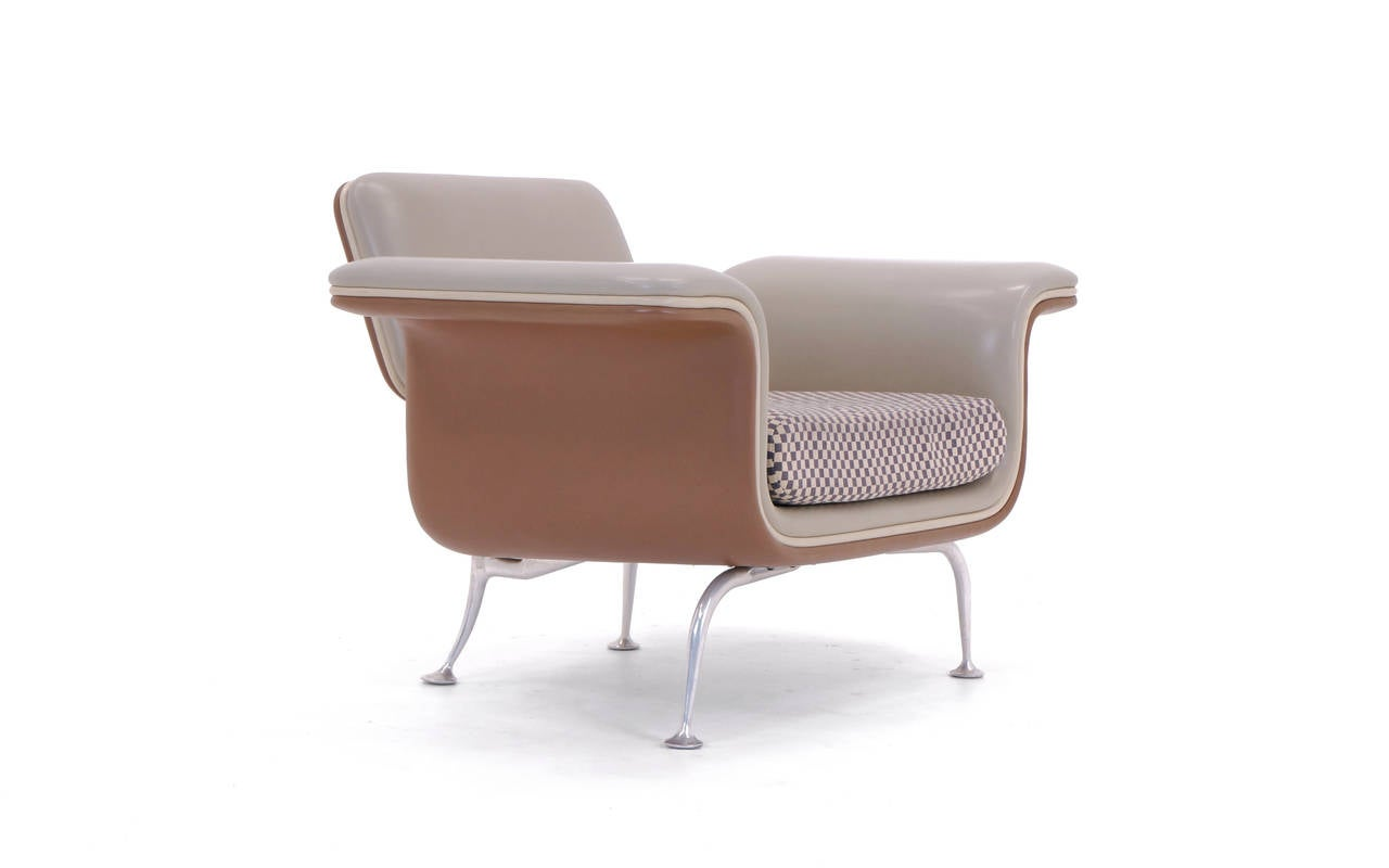 Cast Rare Alexander Girard for Herman Miller Sofa and Chair, All Original For Sale