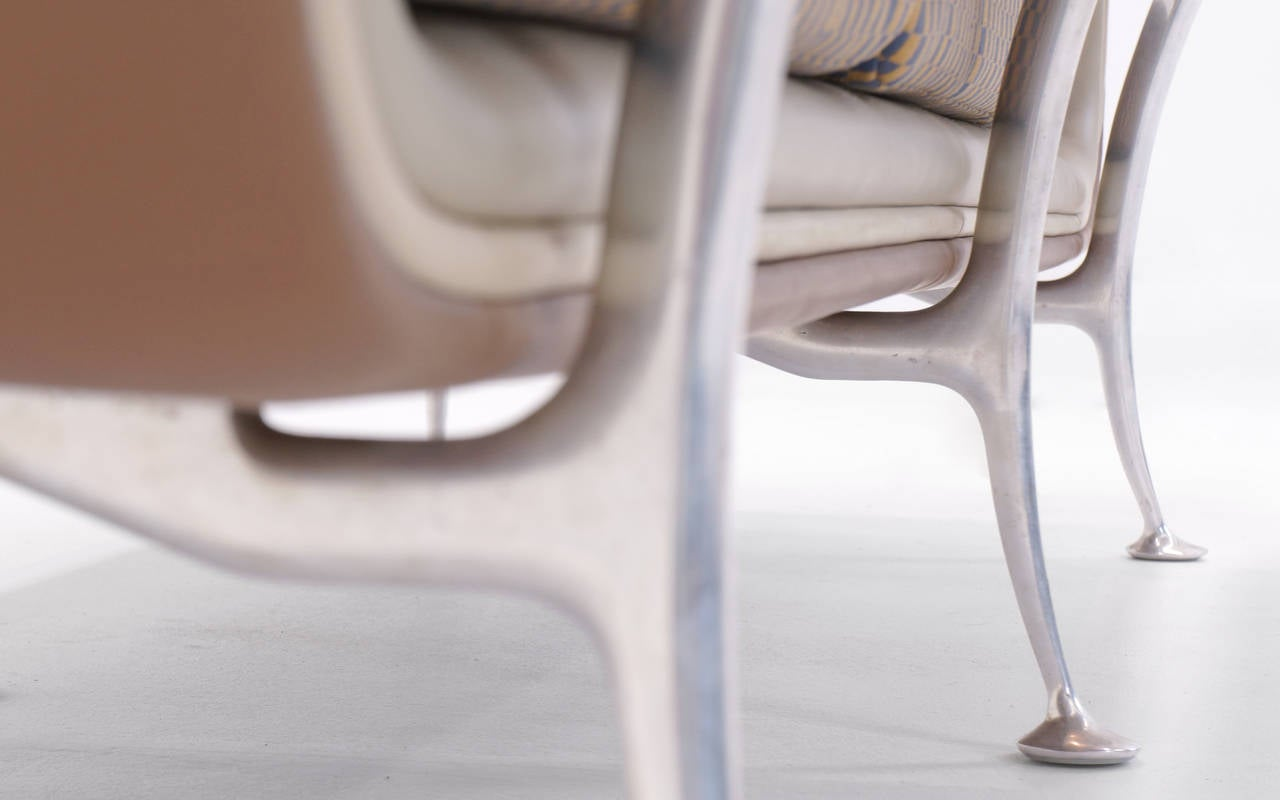 Aluminum Rare Alexander Girard for Herman Miller Sofa and Chair, All Original For Sale