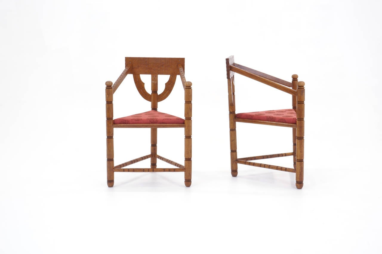 Mid-Century Modern Pair of 1950s Swedish Chairs For Sale