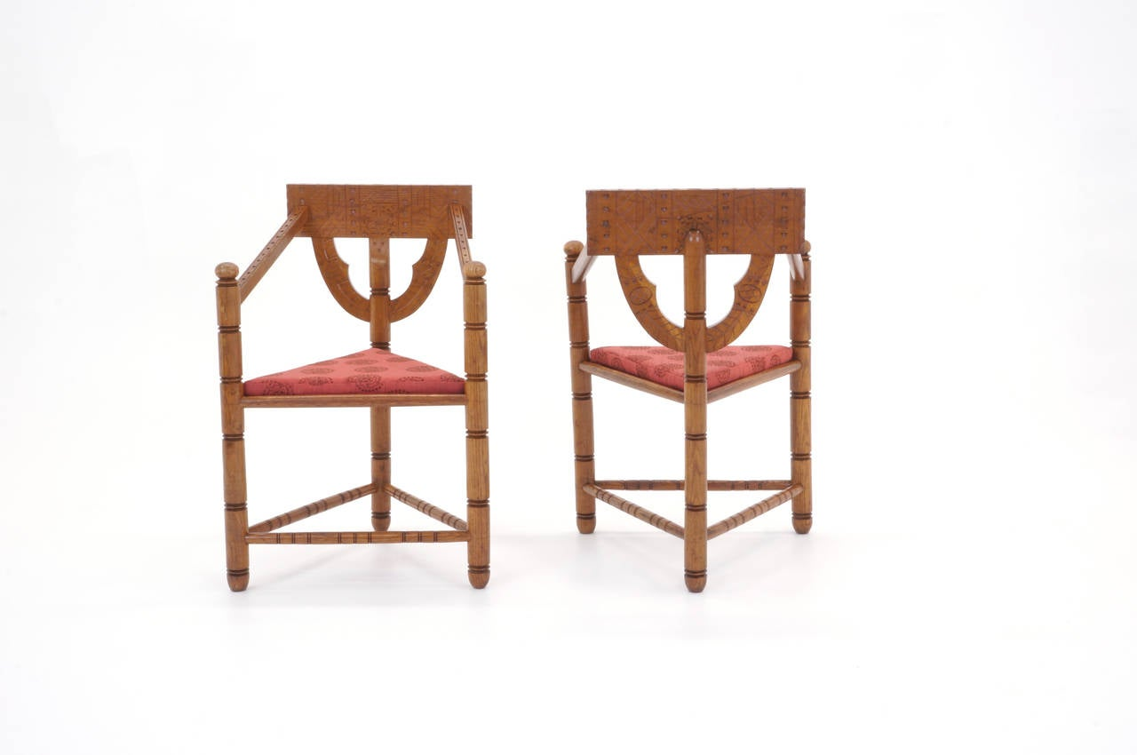 Pair of 1950s Swedish Chairs In Good Condition For Sale In Kansas City, MO