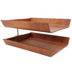 Florence Knoll Two-Tier Paper Filing Tray