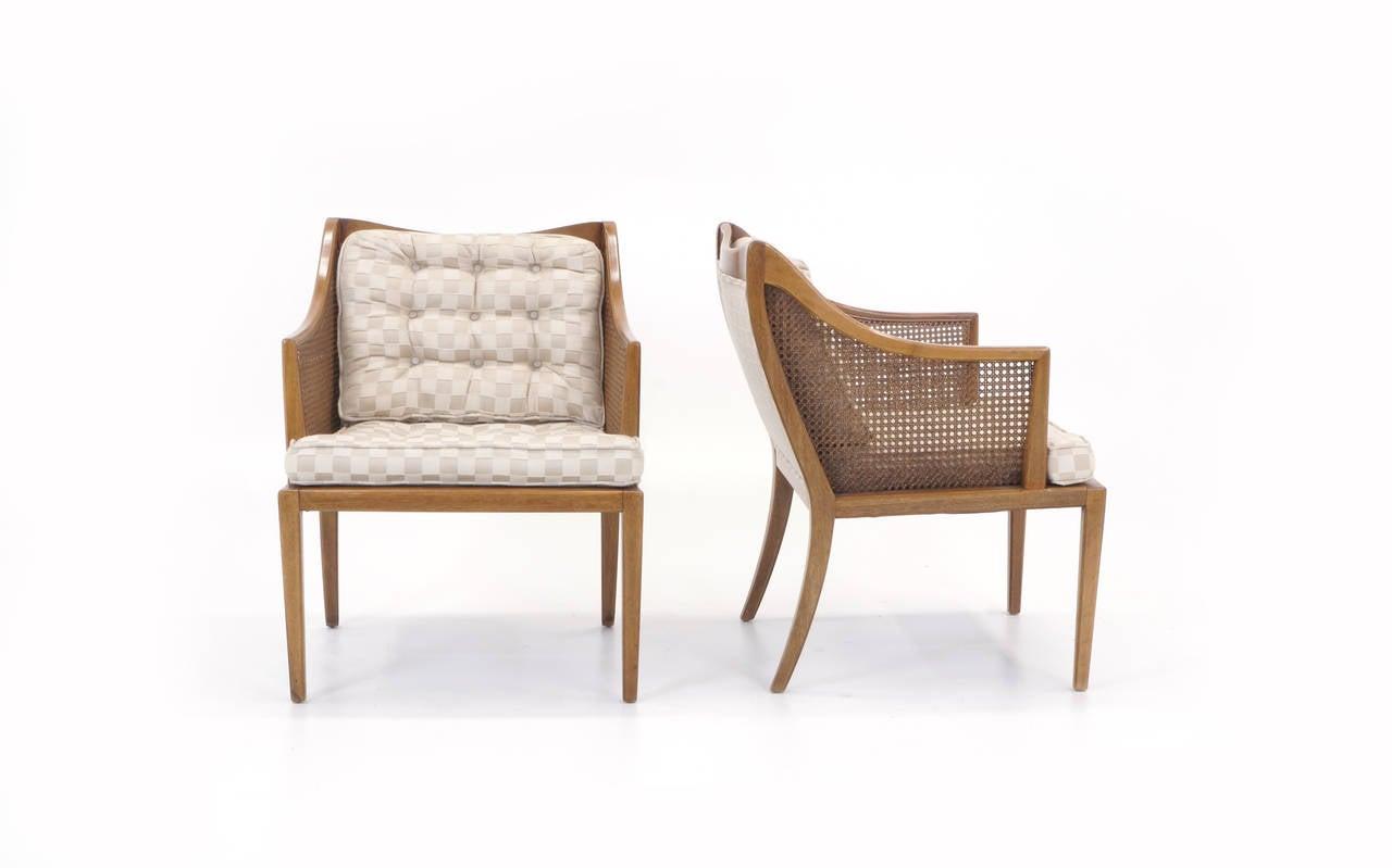 Mid-Century Modern Pair of T. H. Robsjohn Gibbings for Widdicomb Arm Chairs For Sale