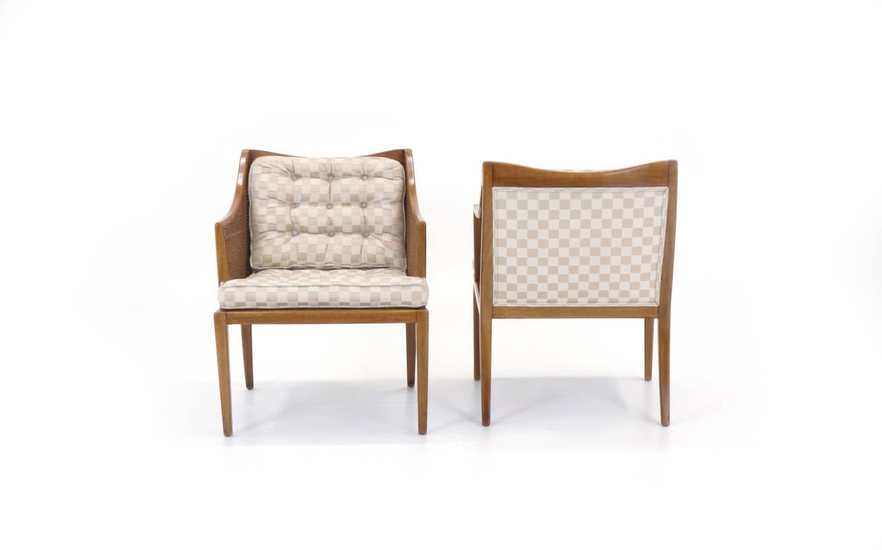 Bleached Pair of T. H. Robsjohn Gibbings for Widdicomb Arm Chairs For Sale