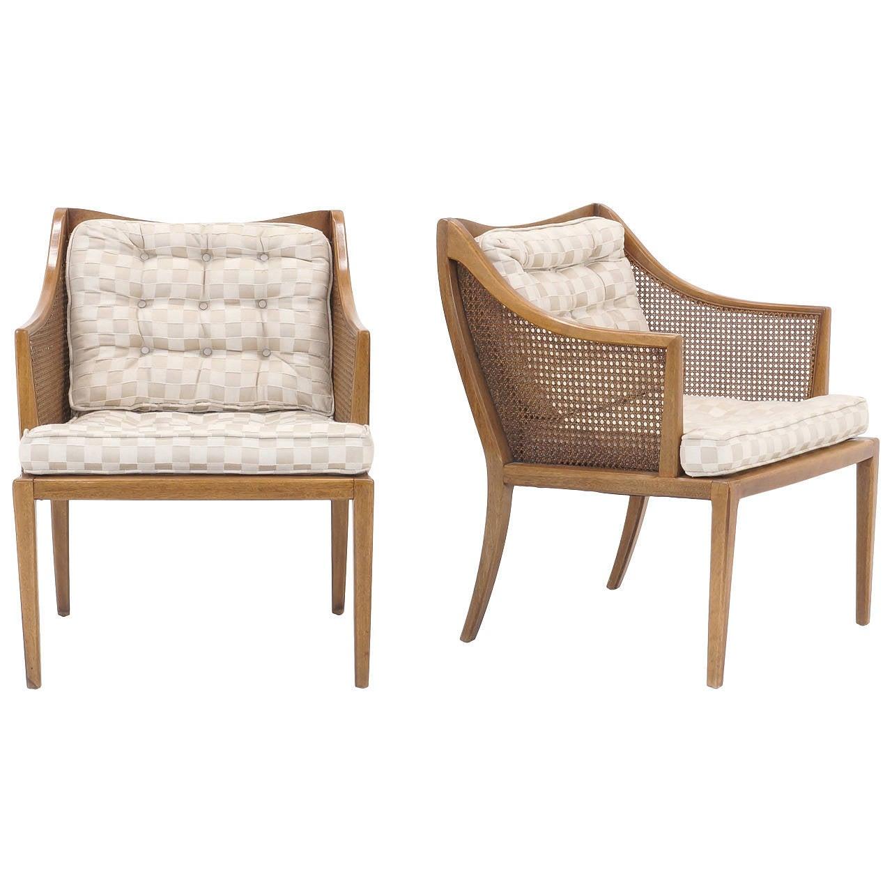 Pair of T. H. Robsjohn Gibbings for Widdicomb Arm Chairs For Sale