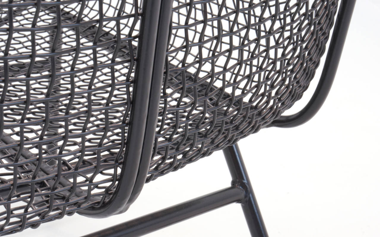 Russell woodard woven wire sculptura sofa at 1stdibs for Furniture 08054