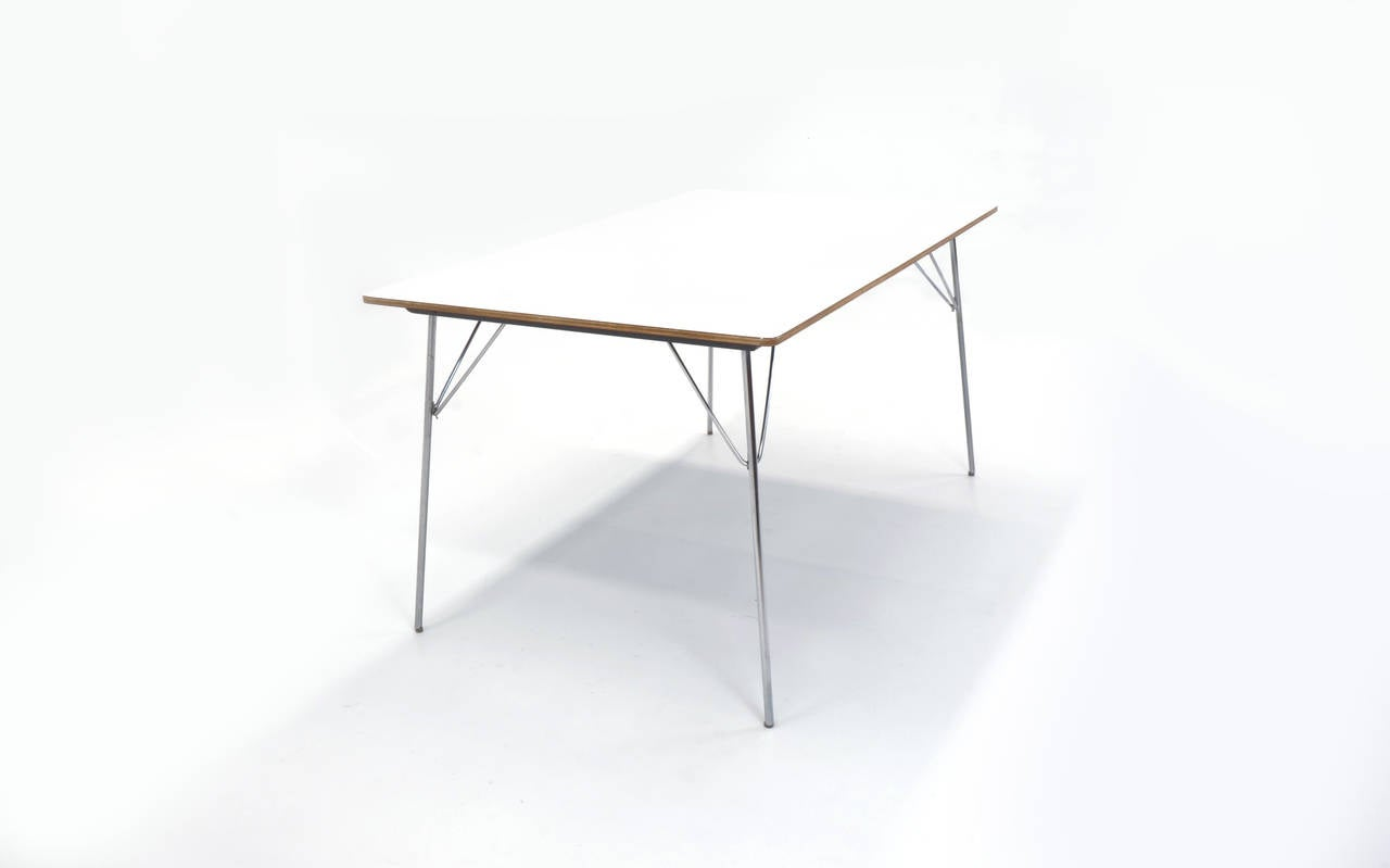 Rare charles and ray eames folding leg dining table - Eames table herman miller ...