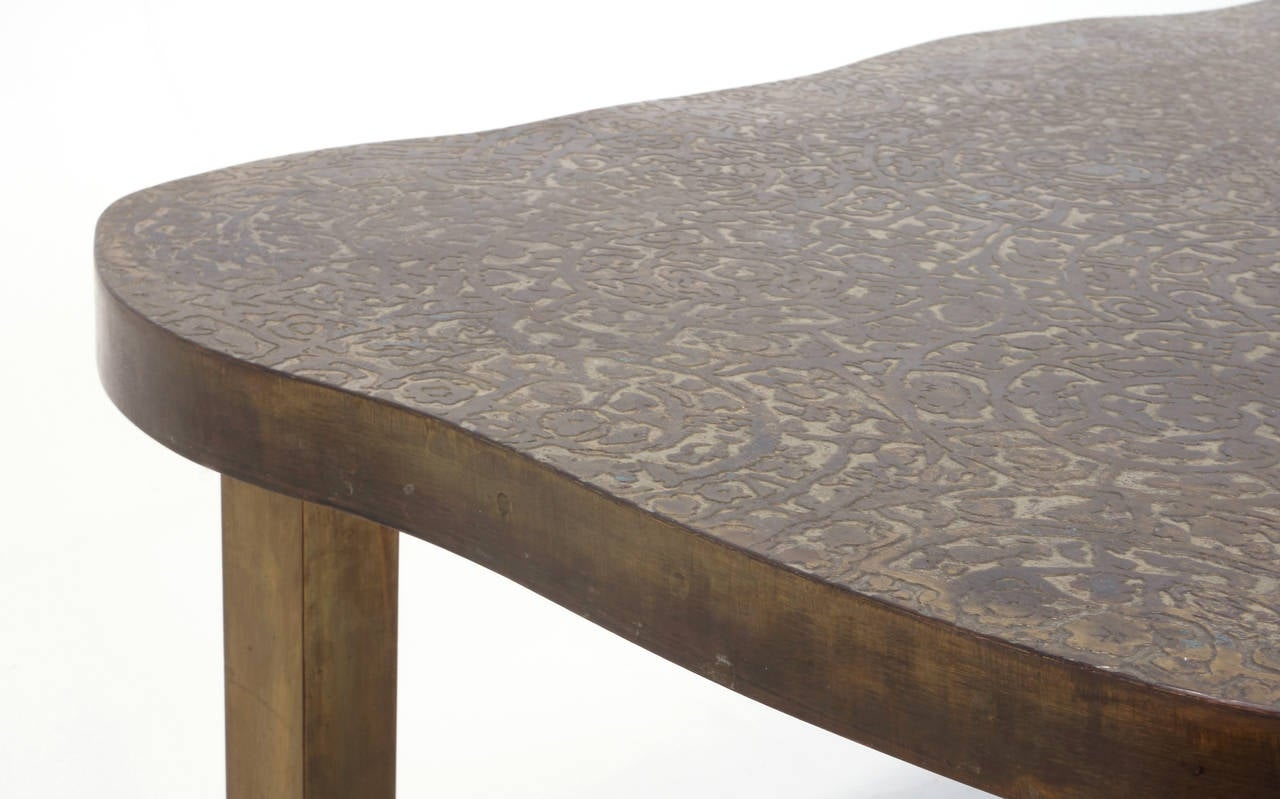 Bronze Coffee Table By Philip And Kelvin Laverne For Sale At 1stdibs