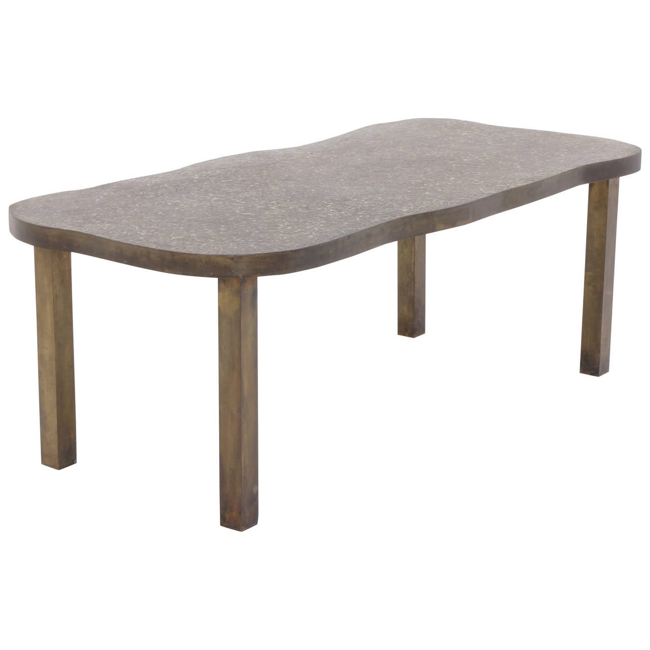 Bronze coffee table by philip and kelvin laverne for sale at 1stdibs Bronze coffee tables