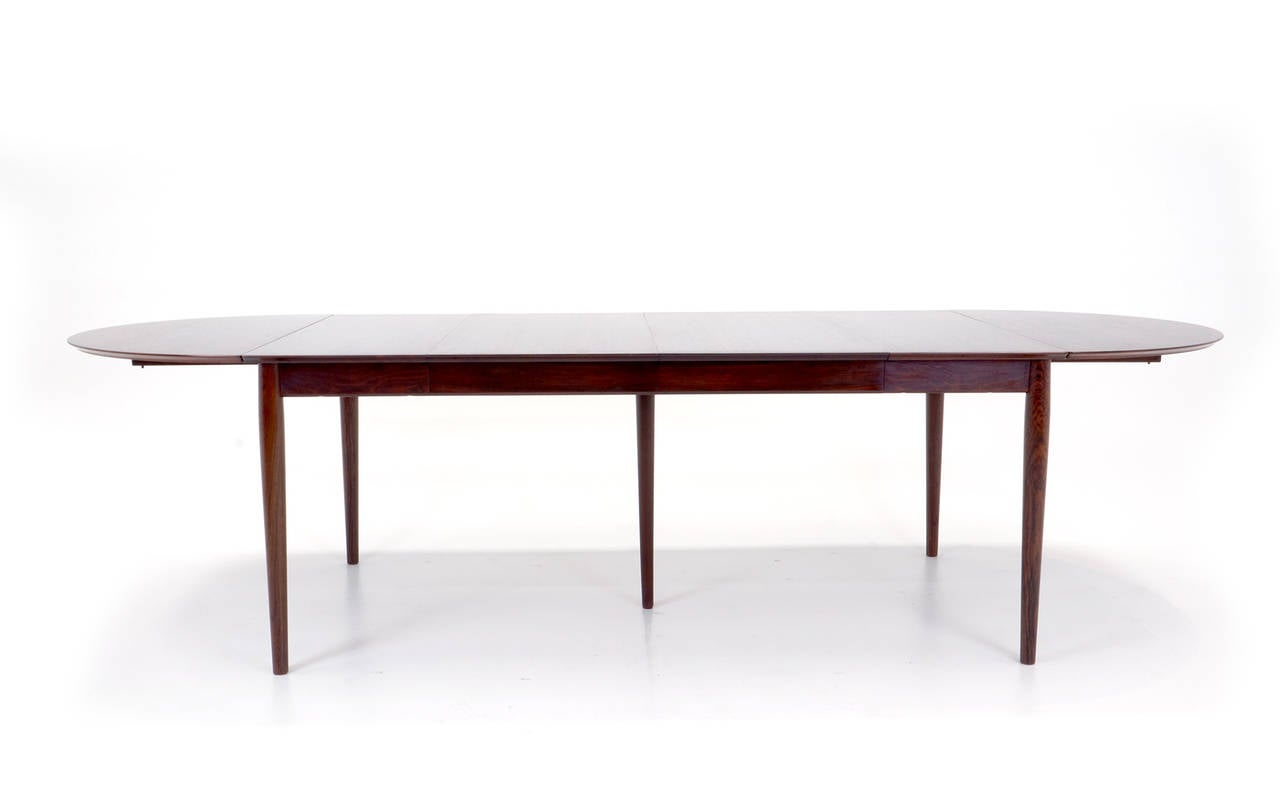 Arne vodder rosewood drop leaf dining table at 1stdibs for Drop leaf dining table
