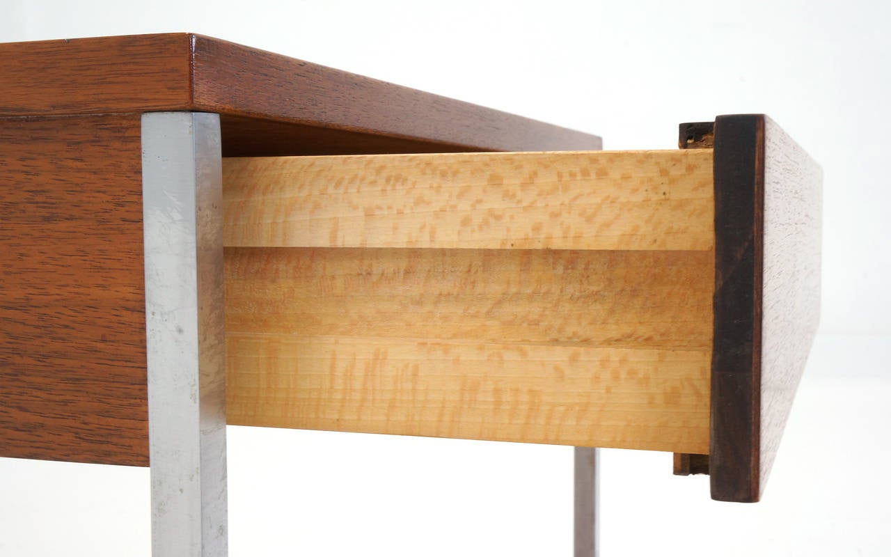 Steel George Nelson for Herman Miller Side Table with Drawer For Sale