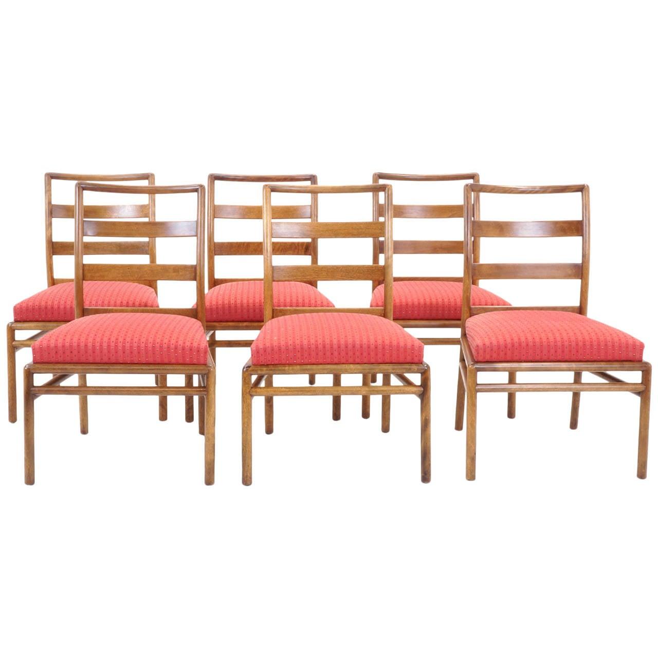Set of Six Robsjohn-Gibbings for Widdicomb Dining Chairs