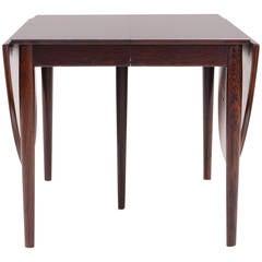 Arne Vodder Rosewood Drop-Leaf Dining Table