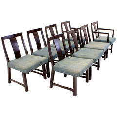 Set of Eight Edward Wormley for Dunbar Dining Chairs