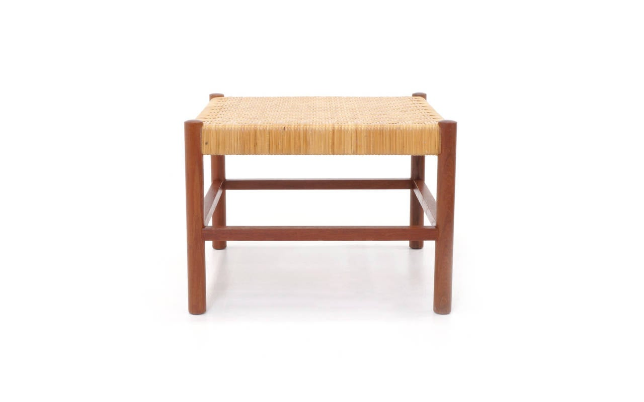 Danish modern teak coffee table with stools at 1stdibs Modern teak coffee table