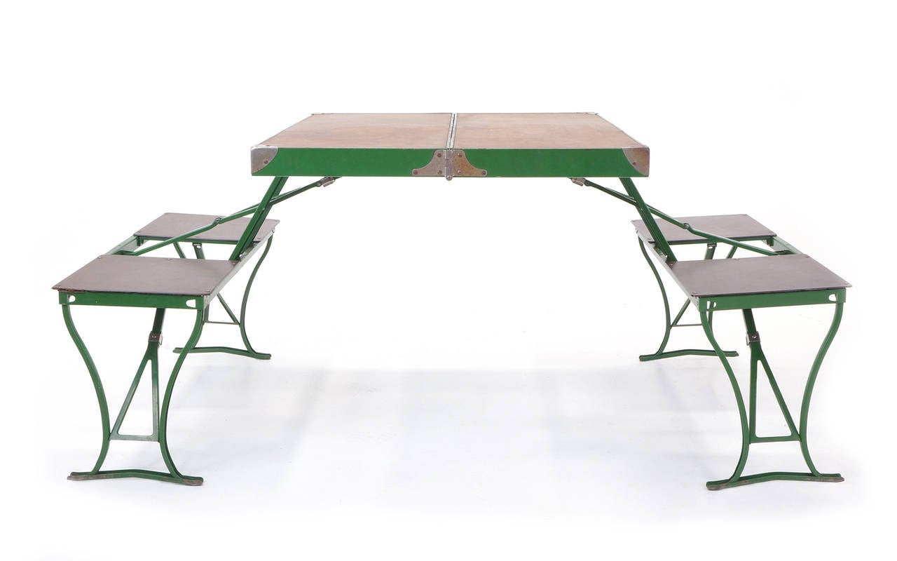 Pair Of 1950s Portable Dining Sets At 1stdibs