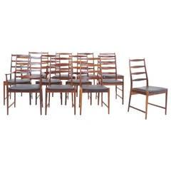 Twelve High Back Rosewood Danish Modern Dining Chairs by Arne Vodder