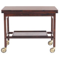 Expandable Rosewood Bar/Serving Cart by Jason Mobler, Denmark