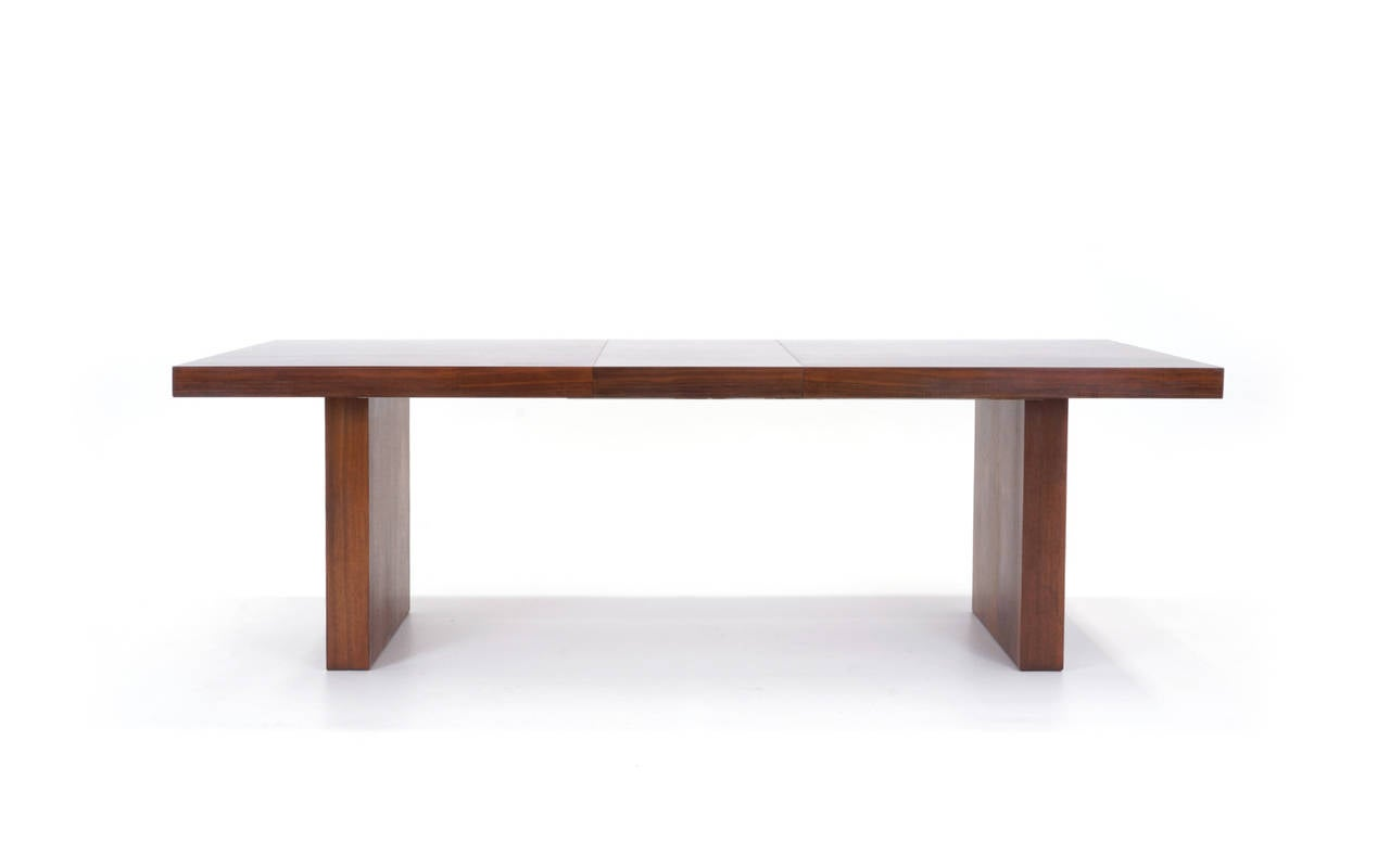 Milo baughman dining table extends to 9 feet at 1stdibs for 9 foot dining room table