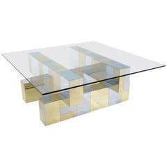 Signed Paul Evans Cityscape Coffee Table