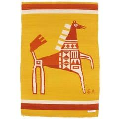 Stallion tapestry by Evelyn Ackerman for ERA