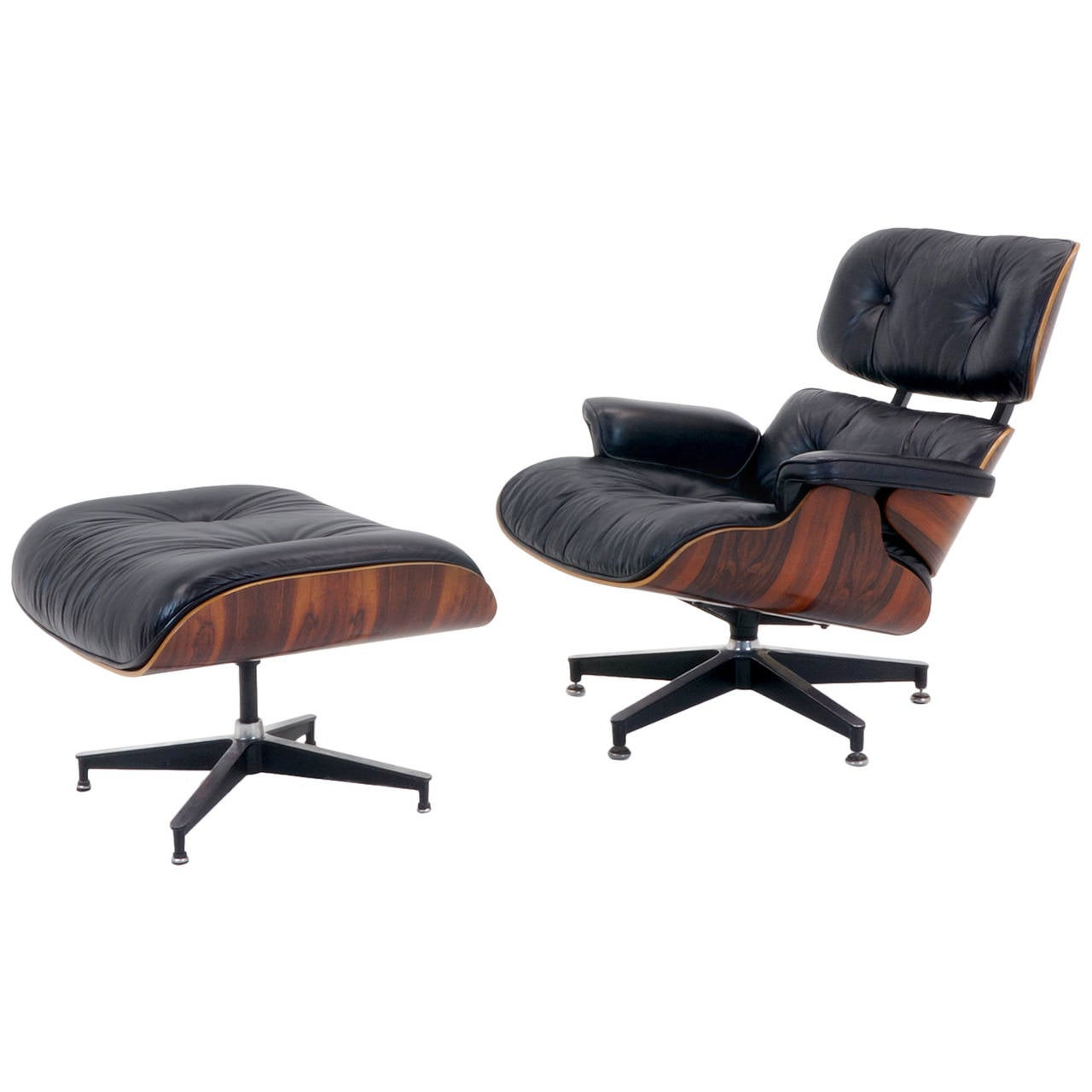 Early charles and ray eames rosewood lounge chair and - Charles eames and ray eames ...