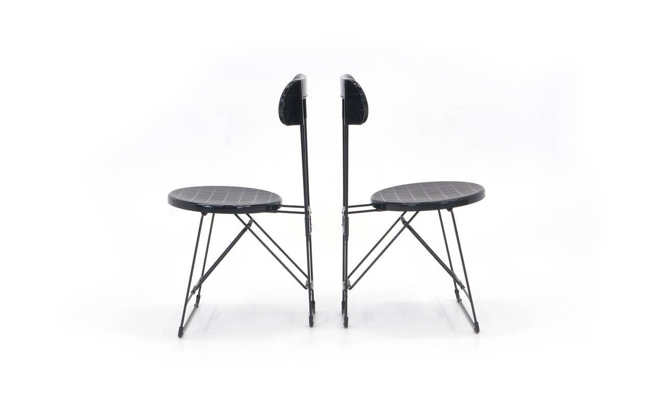 Set Of 6 Cricket Folding Chairs By Andries Van Onck U0026 Kazuma Yamaguchi For  Magis 2