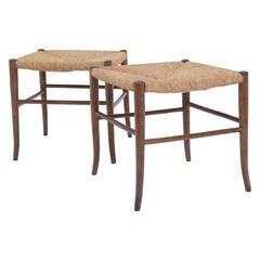 Pair of Stools in the Style of Gio Ponti, Made in Italy