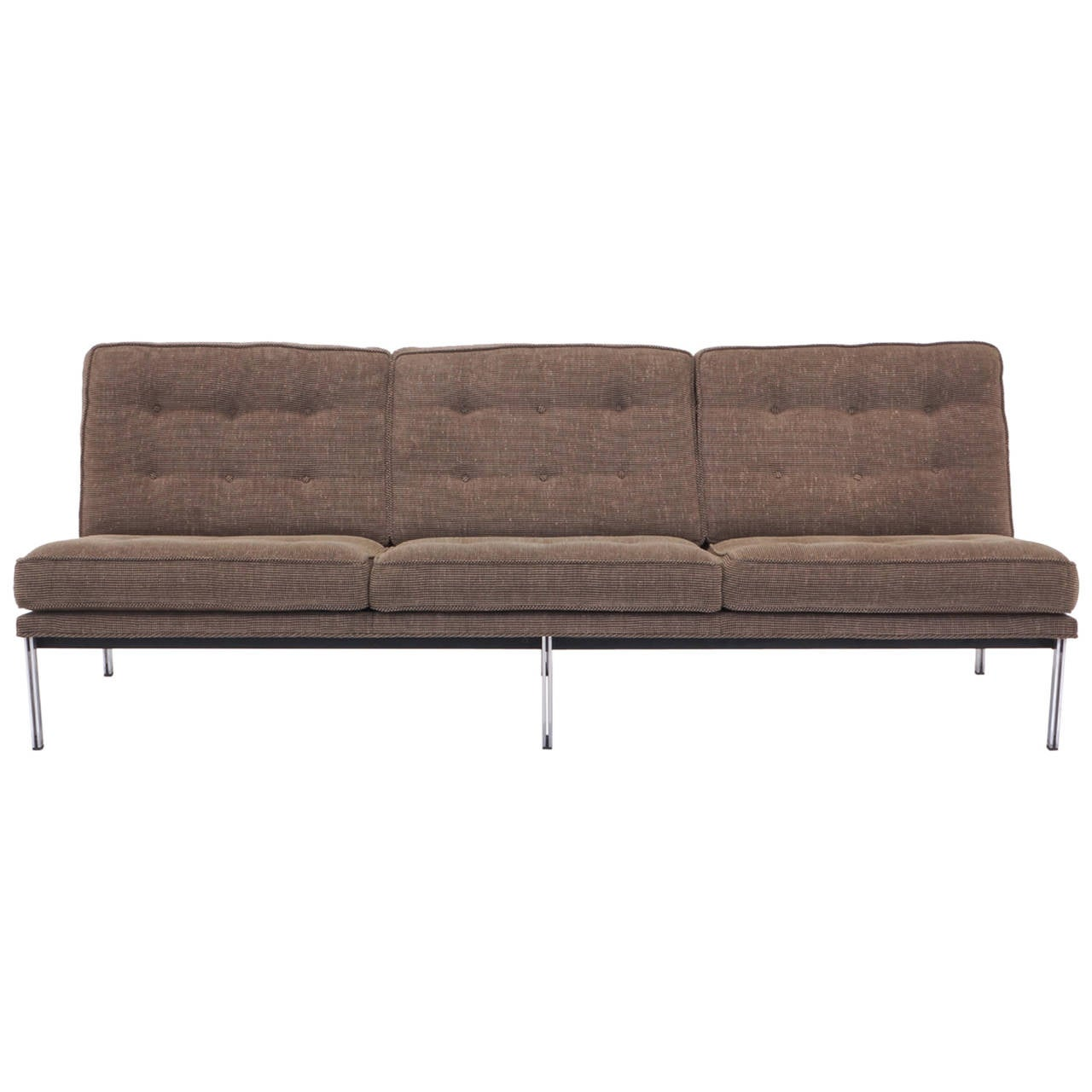 florence knoll parallel bar three seat armless sofa at stdibs - florence knoll parallel bar three seat armless sofa