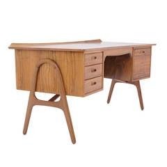 Rosewood Desk by Svend Madsen for H. P. Hansen, Denmark