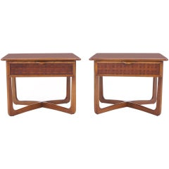 Pair of Lane nightstands. Sometimes attributed to Paul McCobb