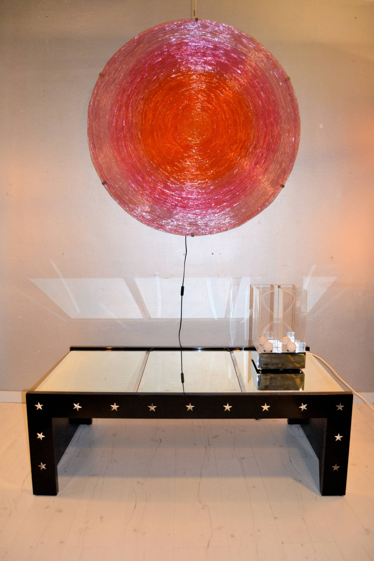 1970s Mirrored Coffee Table in the manner of Jansen For Sale 5