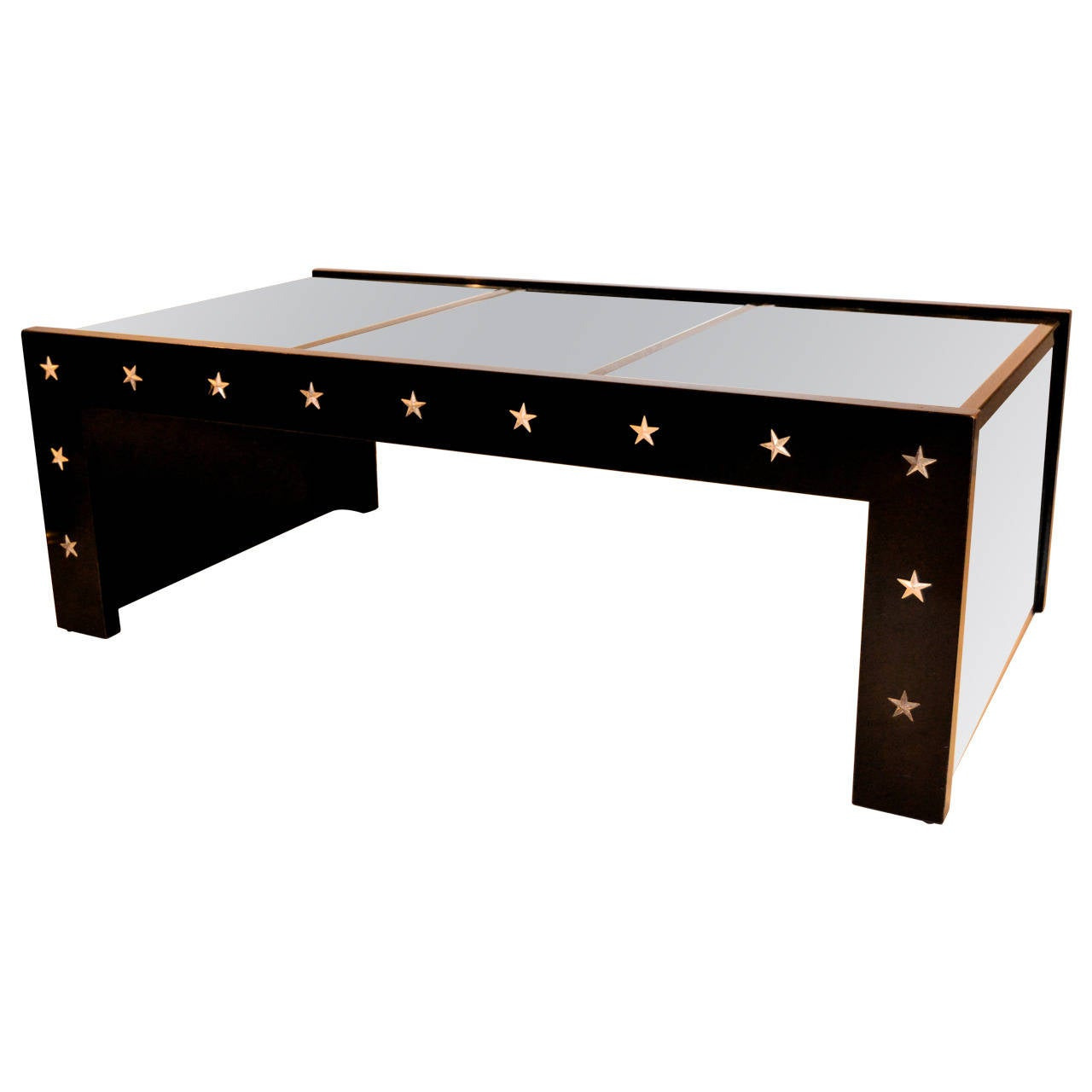 1970s Mirrored Coffee Table In The Manner Of Jansen For Sale At 1stdibs