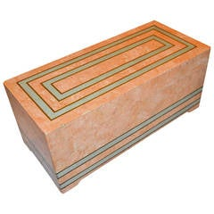 1970s Large Stone and Brass Box