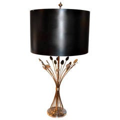1970s Steel French Lamp