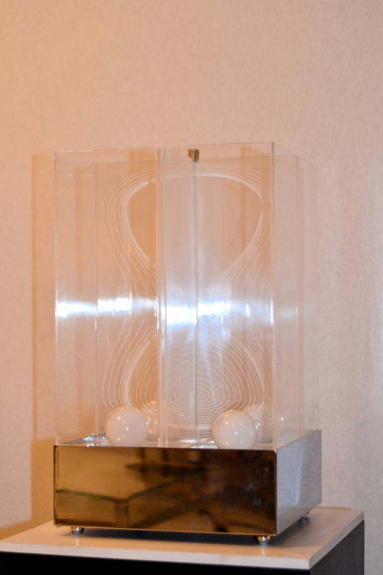Italian Kinetic Lucite Lamp for Sormani For Sale