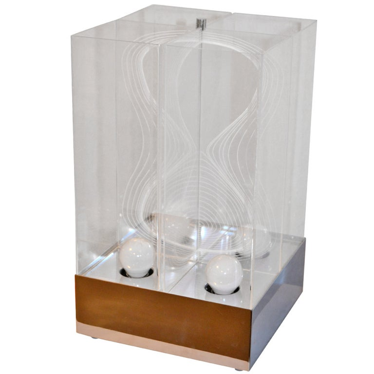 Kinetic Lucite Lamp for Sormani For Sale