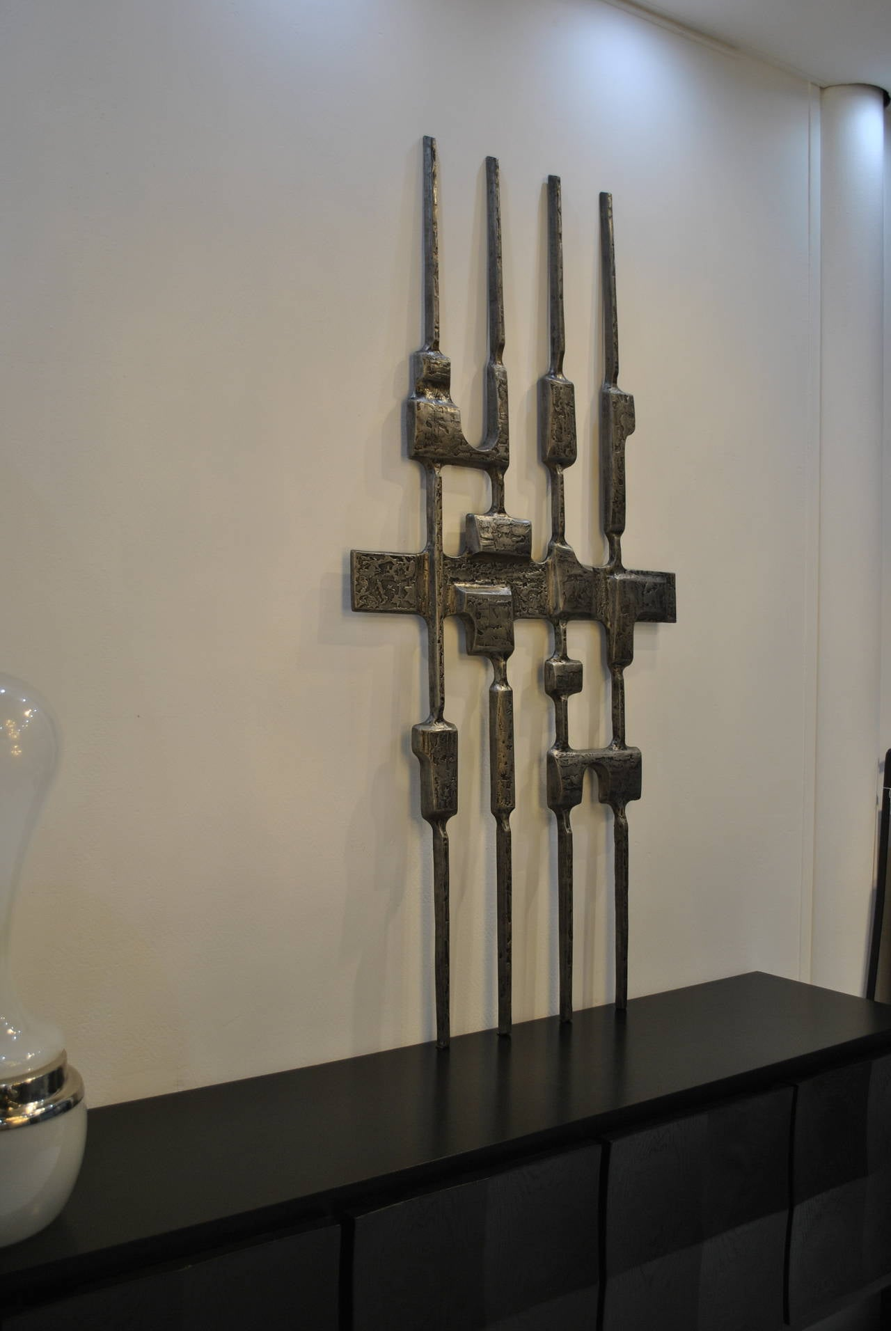 Huge Brutalist Wall Sculpture By Willy Ceysens 1970s At