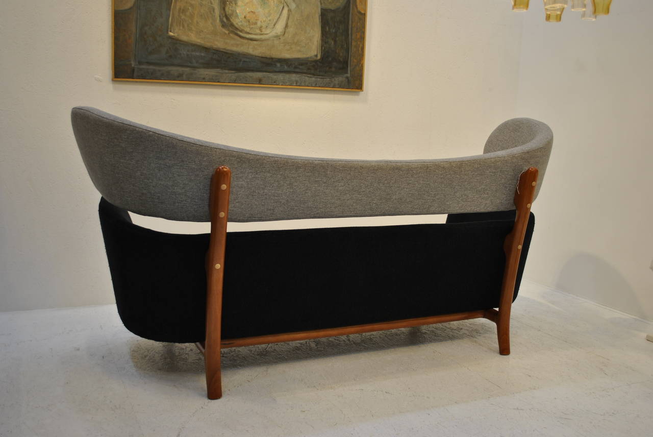 vintage 39 baker 39 style sofa at 1stdibs