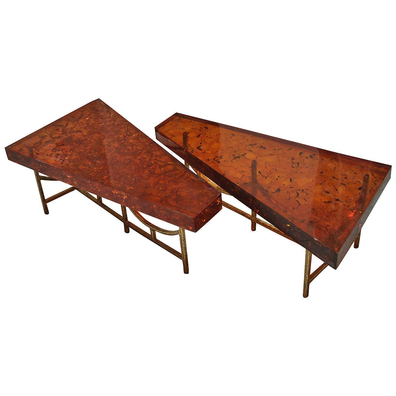 Unique Fractal Resin Coffee Table The Henri Fernandez Private Collection At 1stdibs