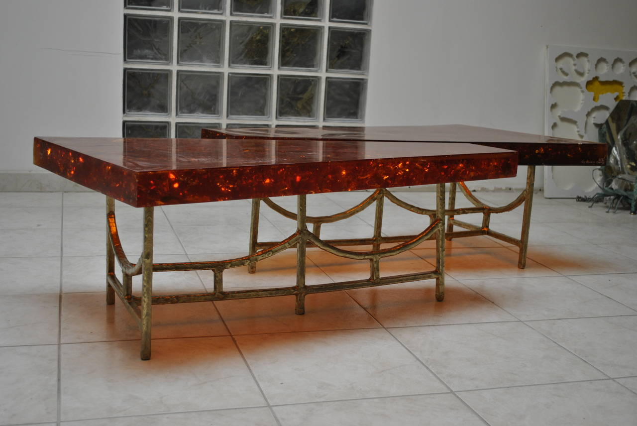 Unique Fractal Resin Coffee Table The Henri Fernandez