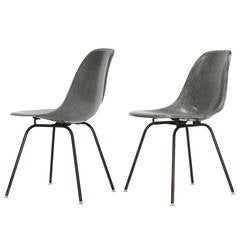 Pair of Charles and Ray Eames Fiberglass 'Shell' Chairs, 1960s