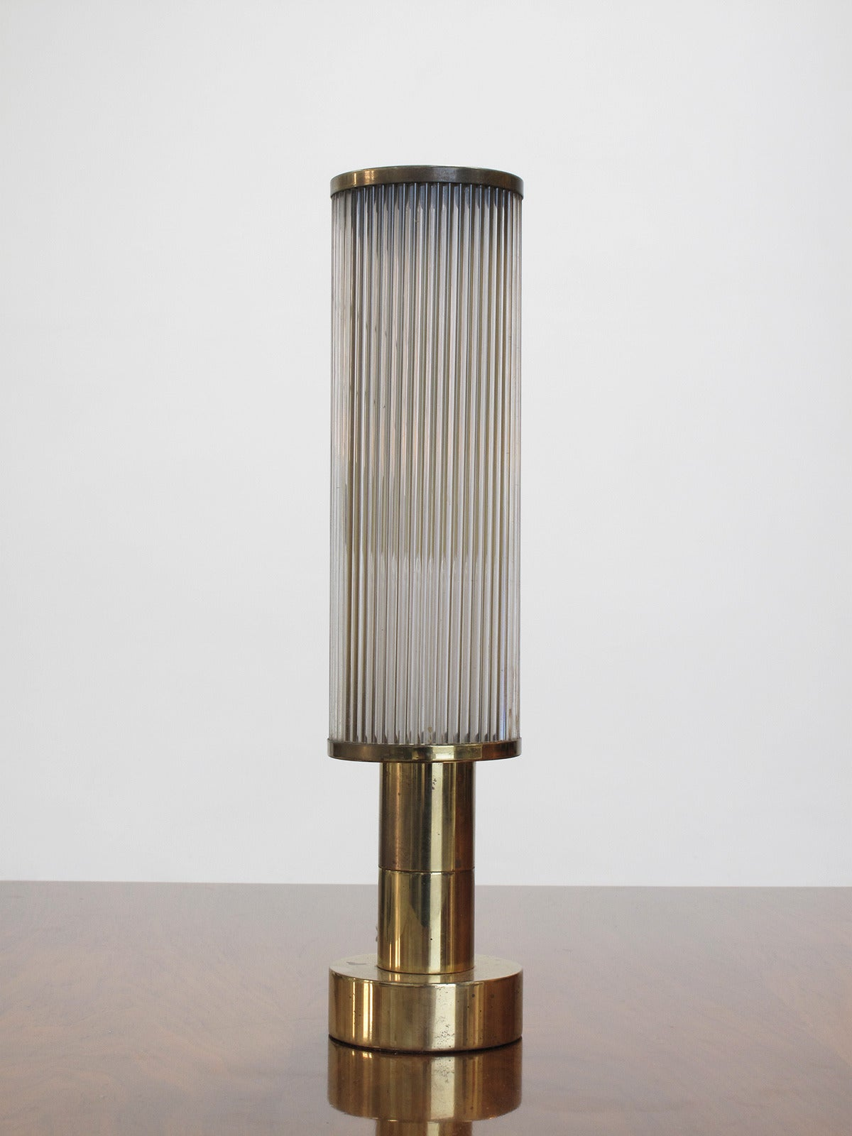brass table lamp by casella lighting 1970s for sale at 1stdibs. Black Bedroom Furniture Sets. Home Design Ideas