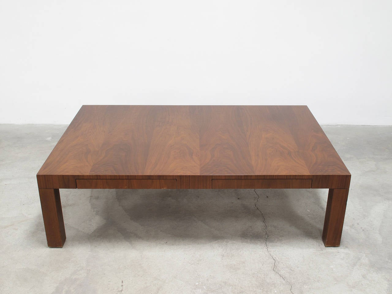 Milo Baughman Burl Wood Parsons Style Coffee Table 1960s For Sale At