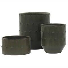 David Cressey Ceramic Planters, 'Ribbed' Design, 1960s